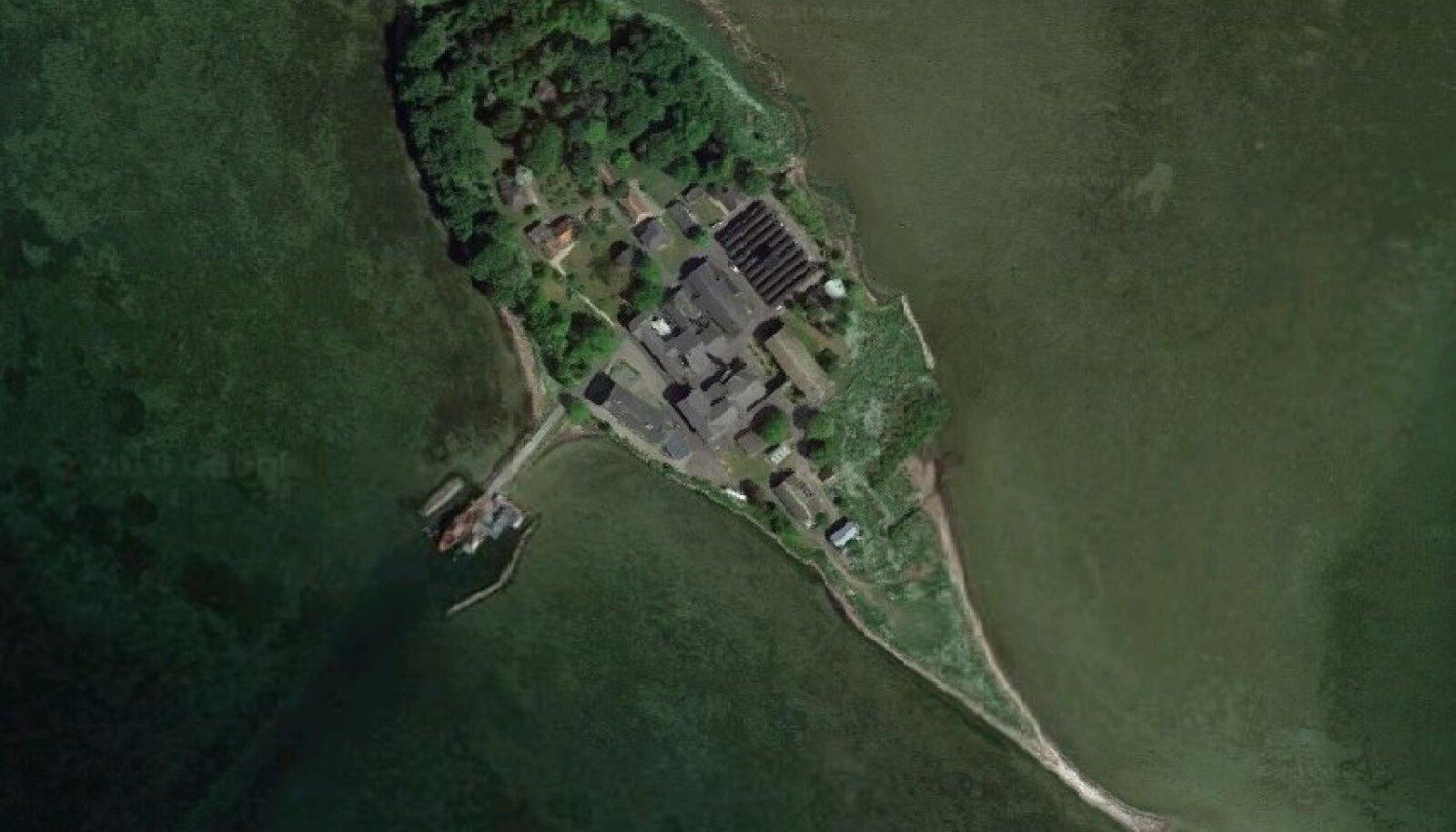 Satelliitpilt Lindholmi saarest