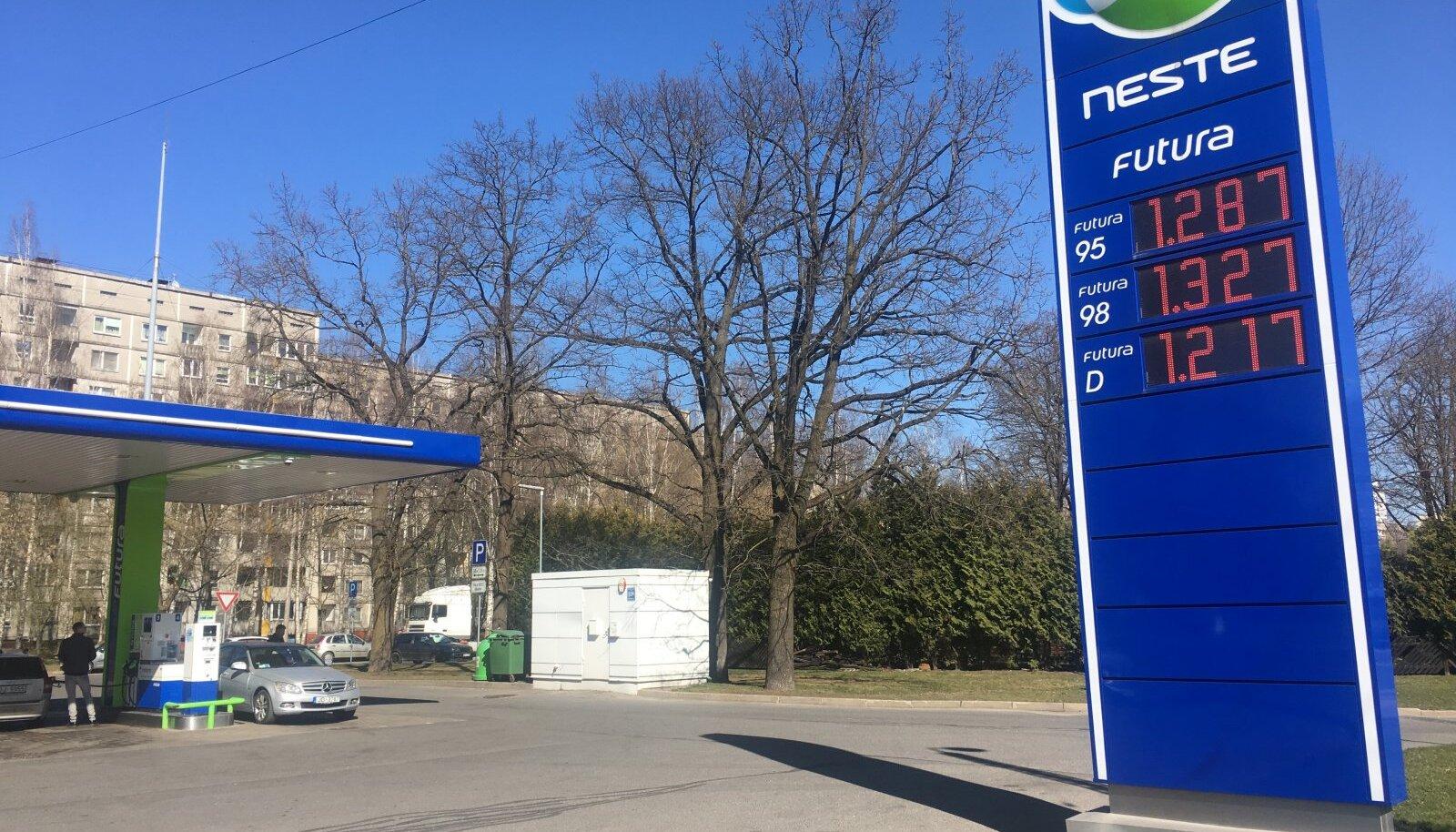 Kütusehinnad Riias 16.04