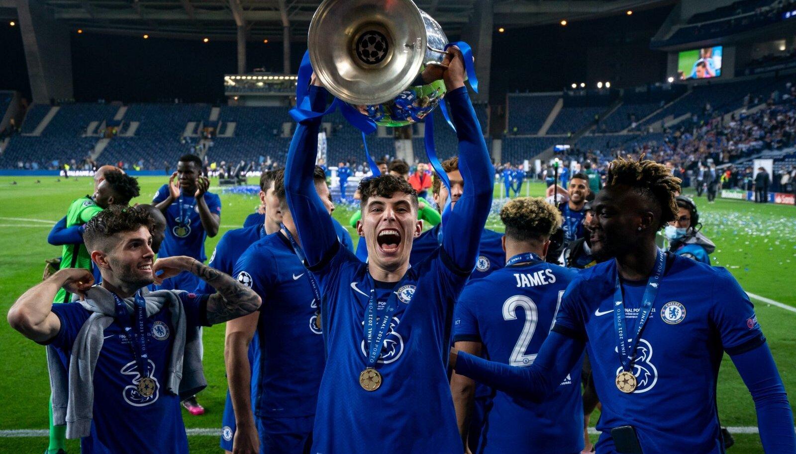 Londoni Chelsea on teist korda Euroopa parim jalgpalliklubi. Võiduvärava lõi 21-aastane Kai Havertz (karikaga).