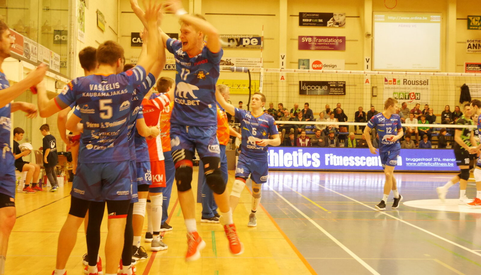Pärnu meeskond Vaubani spordihallis.