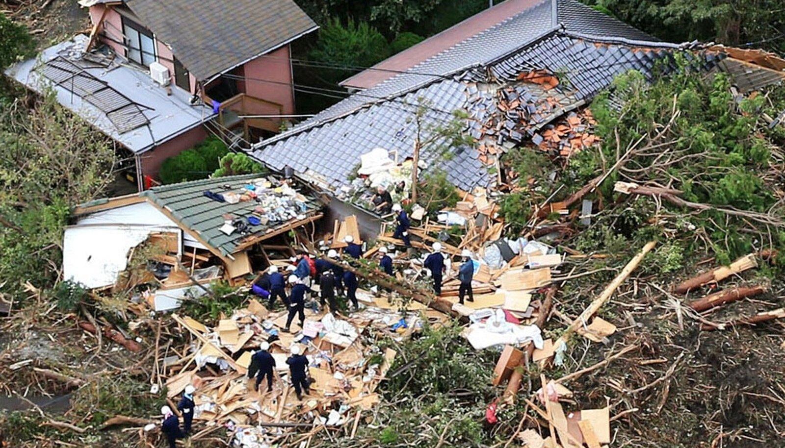 Jaapani taifuun. Foto illustratiivne.