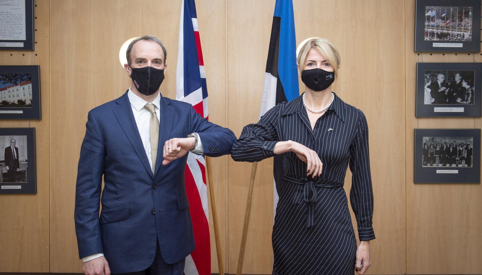 Dominic Raab ja Eva-Maria Liimets