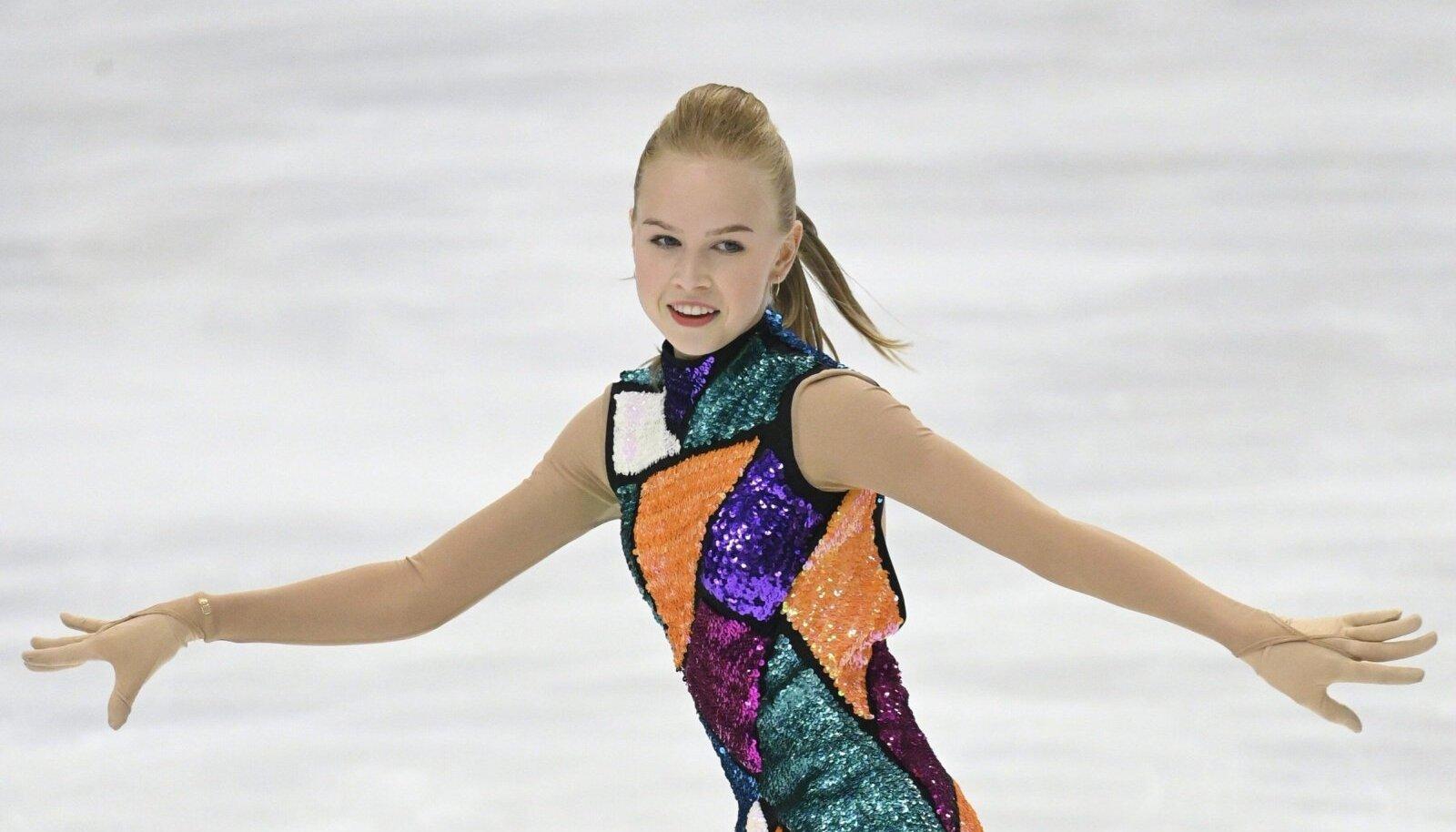 Eva-Lotta Kiibus Soomes võistlustules.
