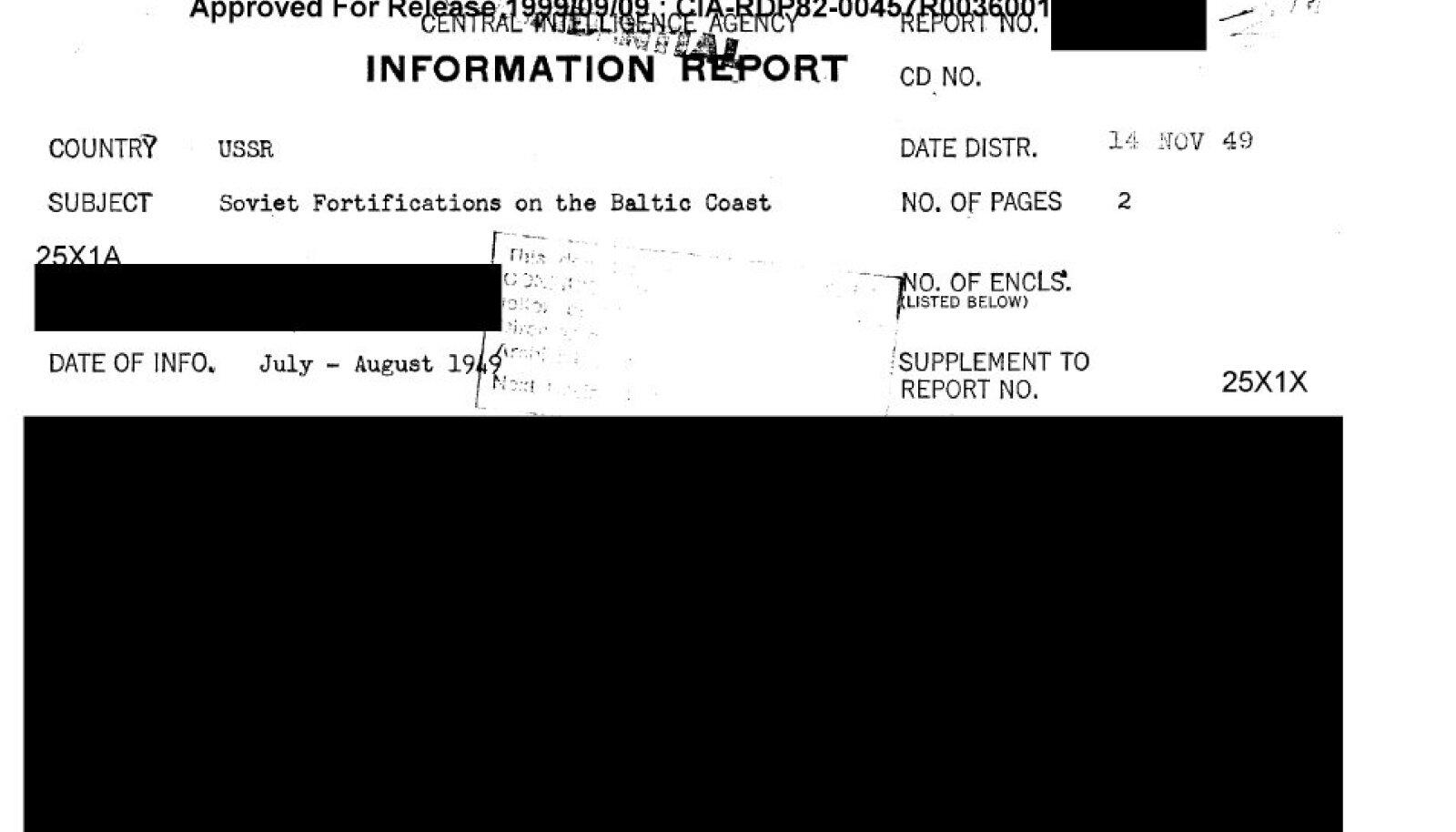 Dokumendi sissejuhatav osa (mustaga kaetud) seekord veel avalikustamisele ei kuulunud. / www.cia.gov