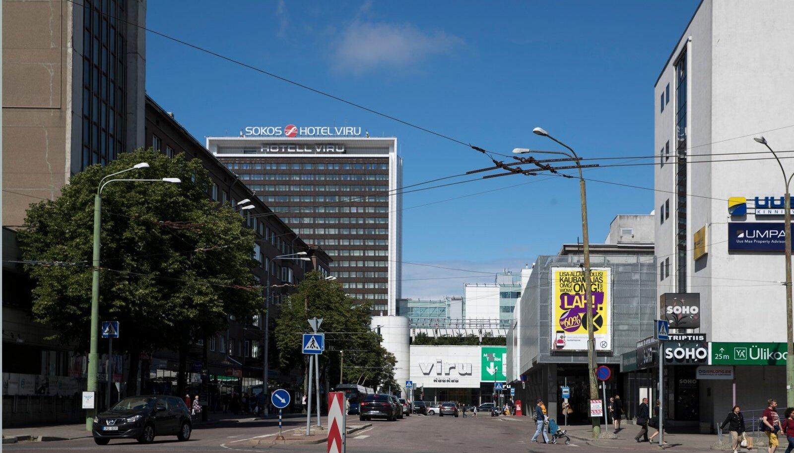 Tallinna vaated,Rävala pst - vaade Estonia pst suunas