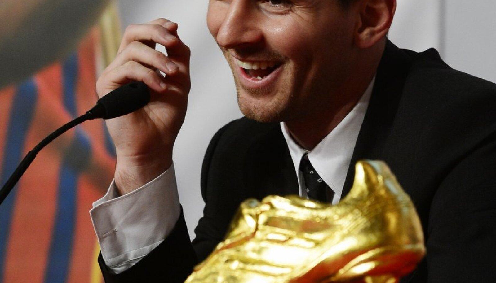 Lionel Messi Kuldse jalgpallisaapaga