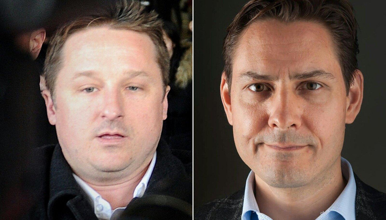 Kanada ärimees Michael Spavor (vasakul) ja endine diplomaat Michael Kovrig pääsesid lõpuks Hiinast minema.