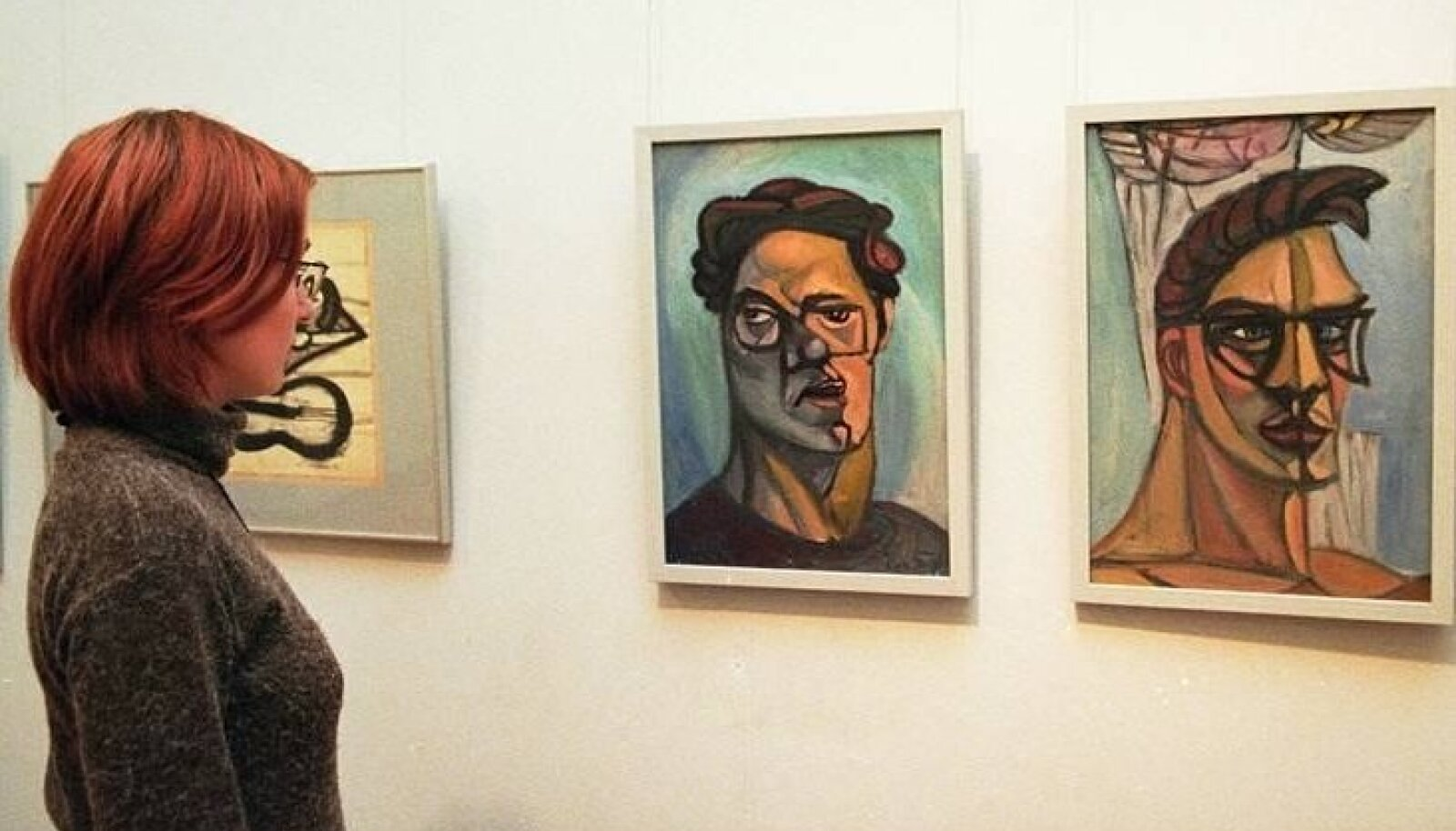Ülo Soosteri autoportreed näitusel Eesti Kunstimuuseumis.