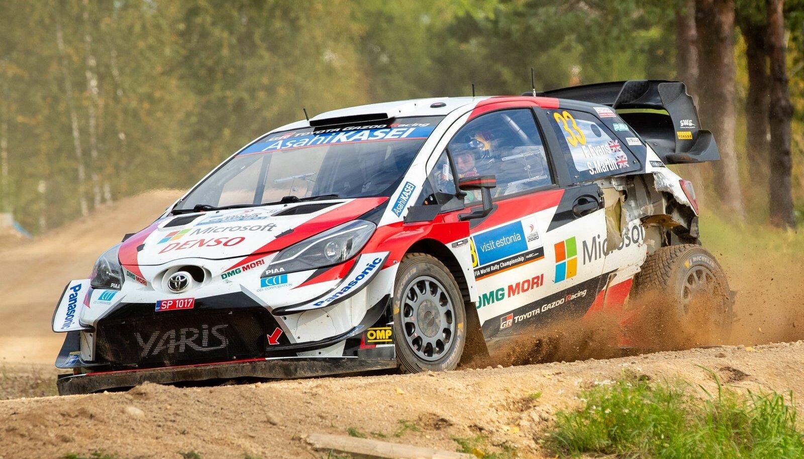 Elfyn Evans 2020. aasta Rally Estonial.