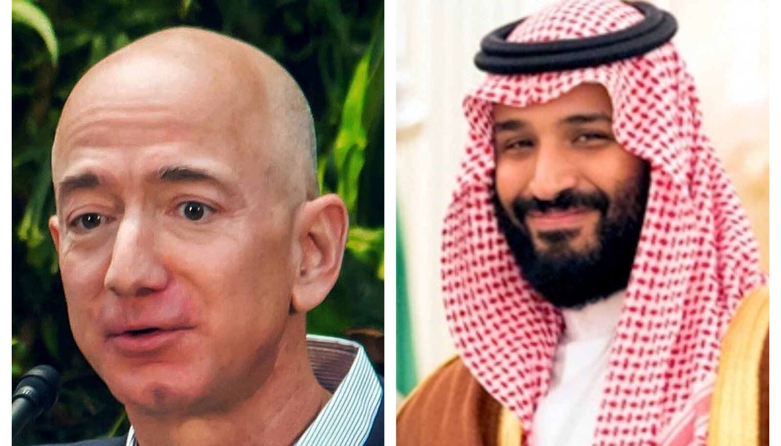 Fotokollaaž: Bezos (v) ja bin Salman (p) / vasak foto Wikimedia Commons / Seattle City Council, parem Wikimedia Commons / Valge Maja)