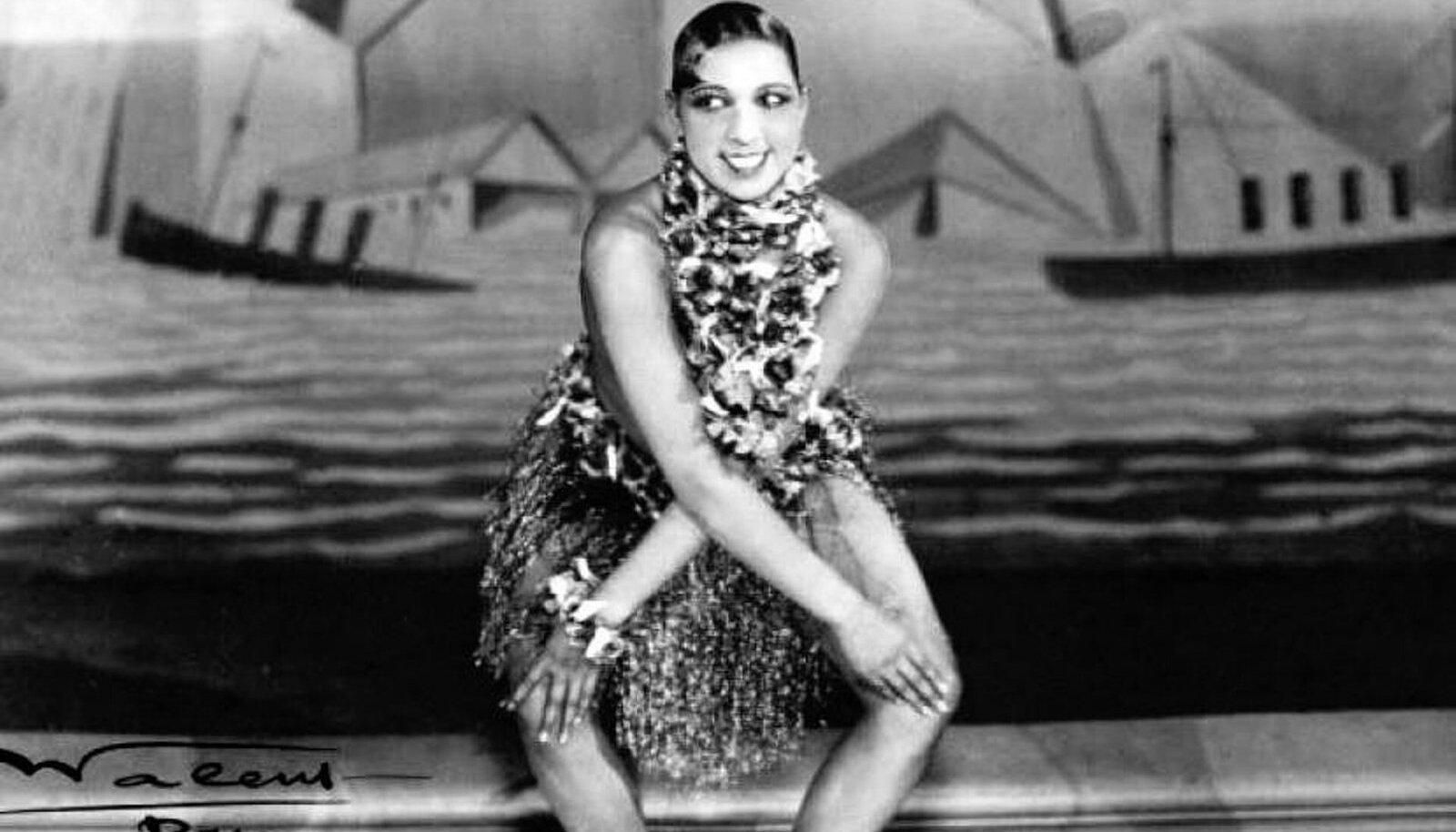 Tantsijanna Josephine Baker tšarlstoni esitamas. (Foto: Wikimedia Commons)