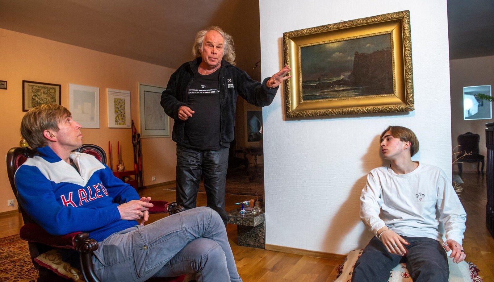 IGAS SUUNAS: Mustonenide suguvõsas tegeletakse nii vanamuusika, nostalgialaulude kui ka kõige moodsama räppmuusikaga. Pildil (vasakult) Mattias, Andres ja Frederik Mustonen.