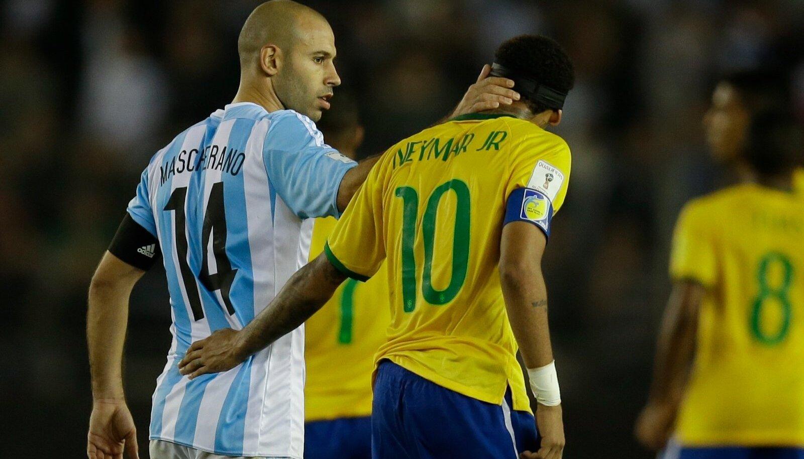 Neymar, Javier Mascherano