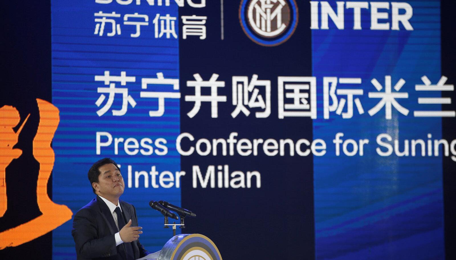 Inter Milani tänane pressikonverents Hiinas Nanjingis