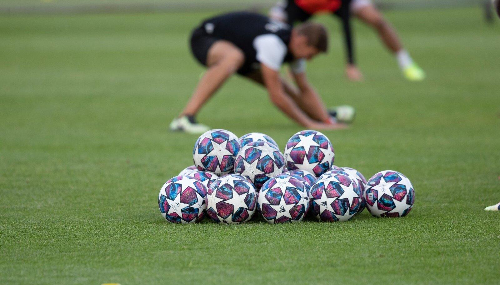 Jalgpall. Pilt on illustreeriv.