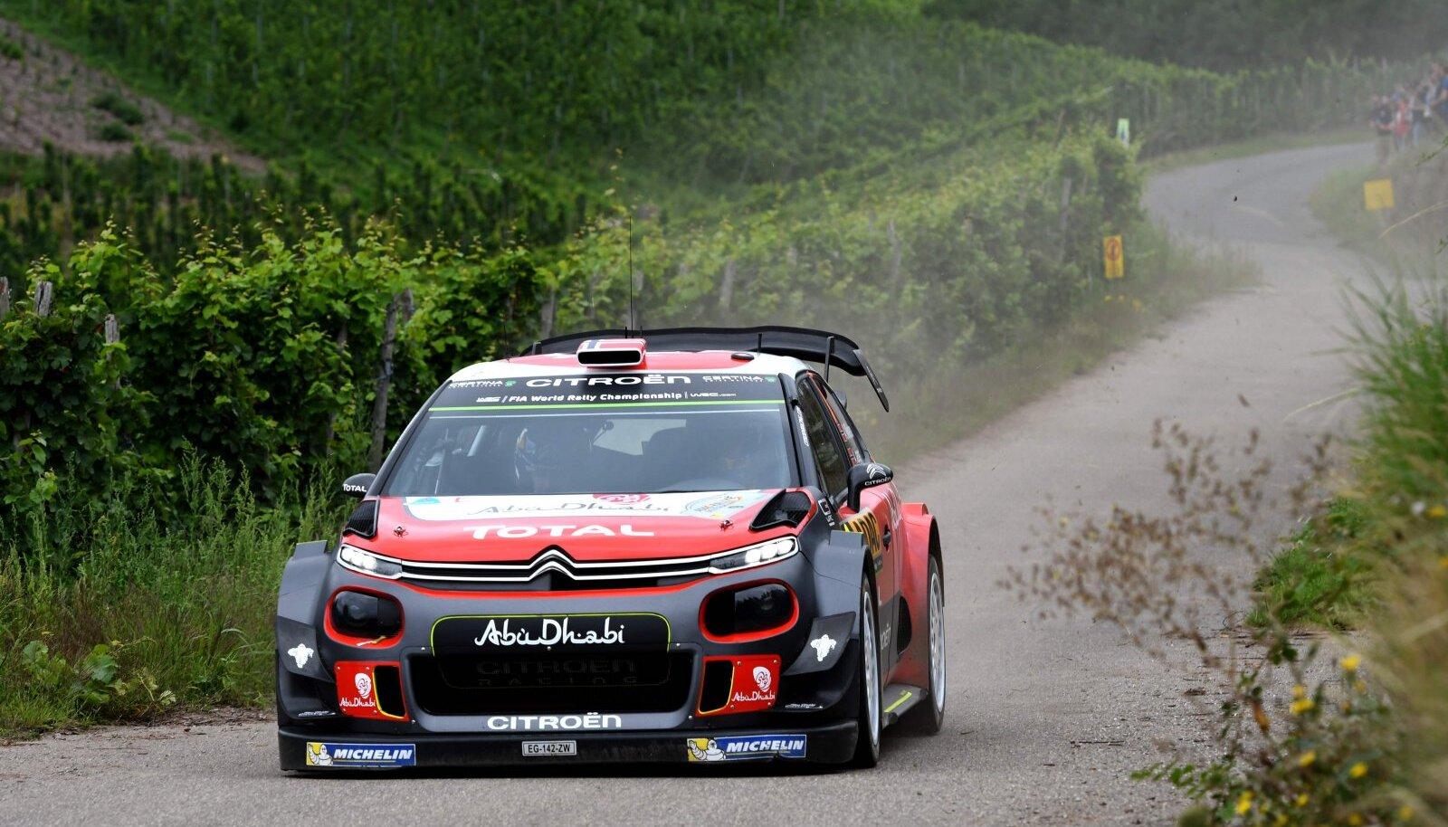 Andreas Mikkelsen Citroen C3 WRC-ga