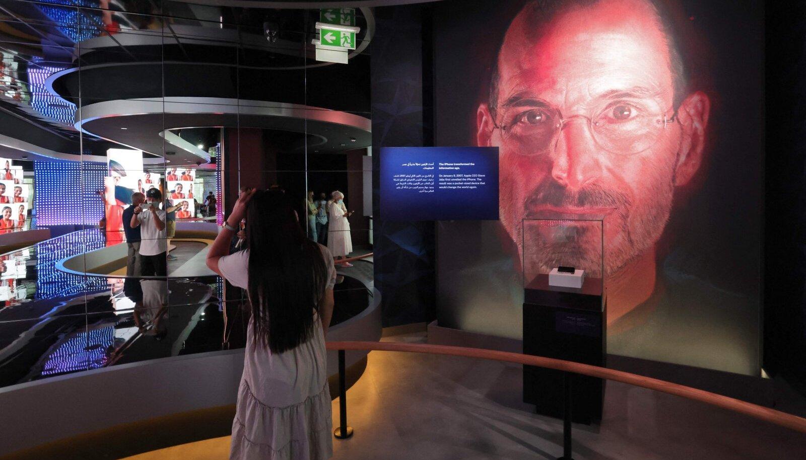 Apple'i asutaja ja varajase tegevjuhi Steve Jobsi kuvand USA paviljonil Dubai Expol aastal 2020