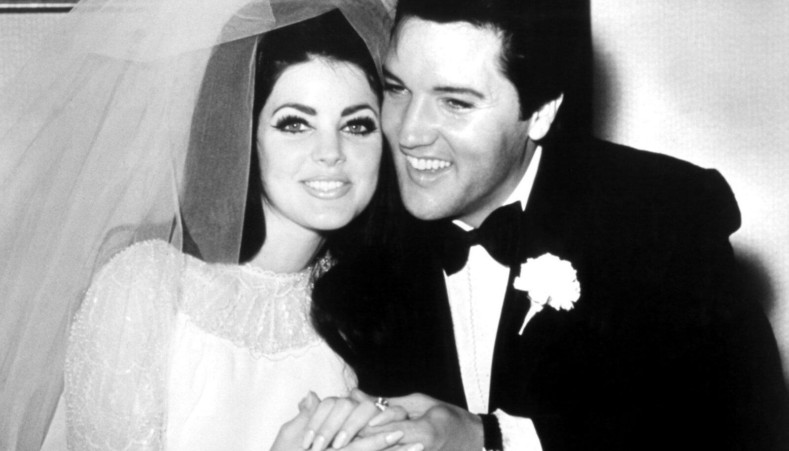 Värskelt abiellunud Priscilla ja Elvis Presley, 1967