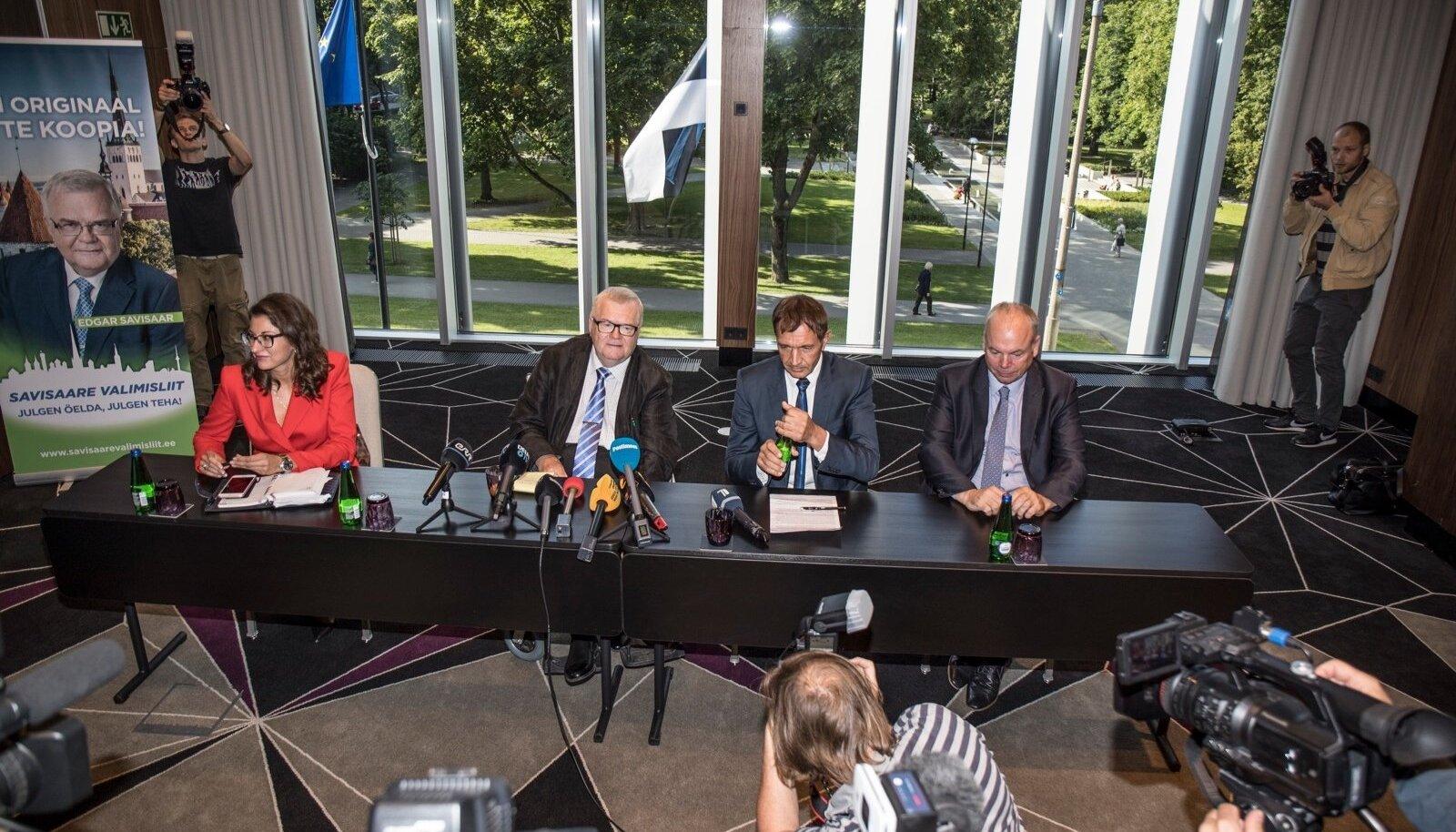 Savisaare Valimisliidu ja Tegusa Tallinna pressikonverents