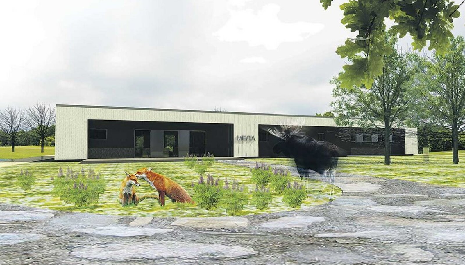 Loomahaigla projekti vabatahtlike arhitektide Ingrid Aasoja ja Aleksandr Zverevi ettekujutus uuest keskusest.
