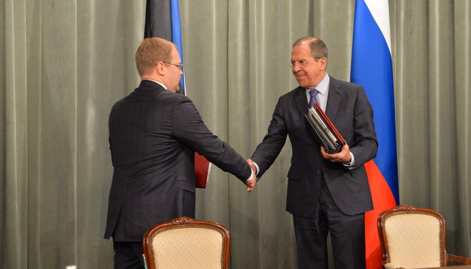 Eesti ja Venemaa vahelise piirilepingu allkirjastamine 2014. aastal