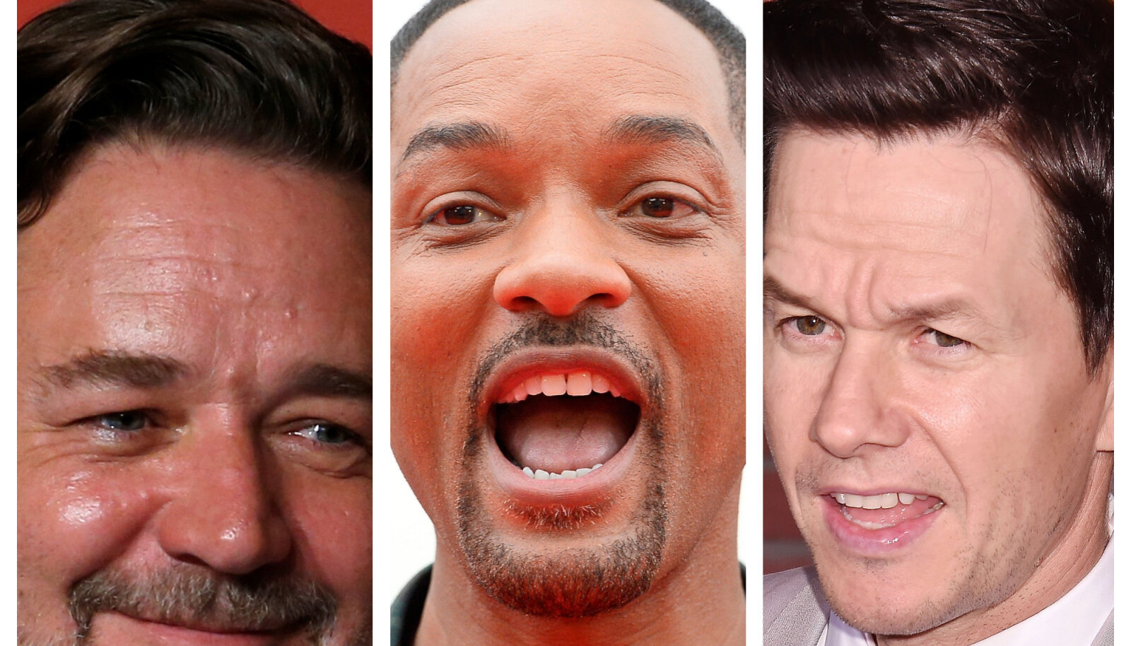 Russell Crowe, Will Smith ja Mark Wahlberg