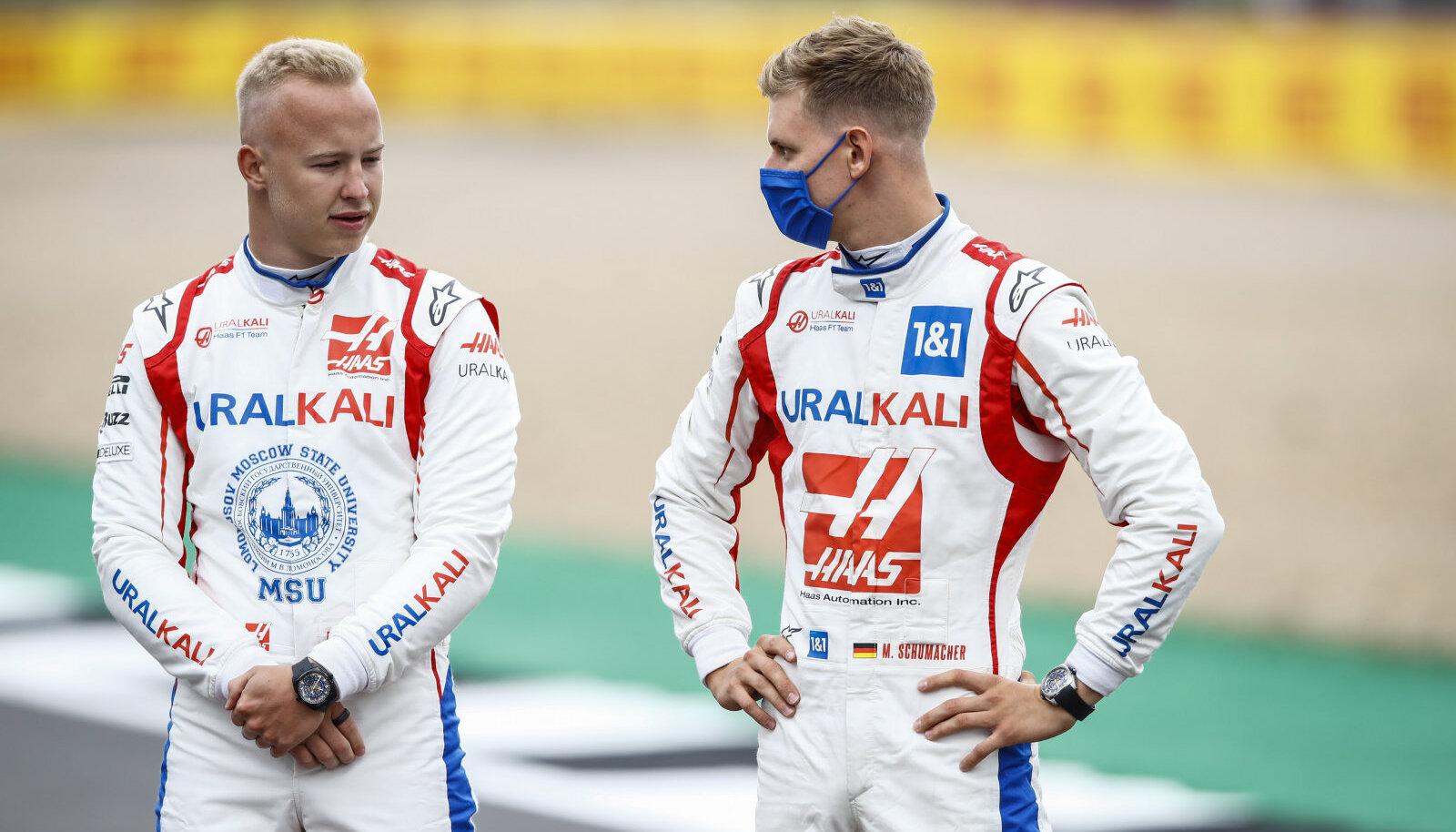 Nikita Mazepin ja Mick Schumacher