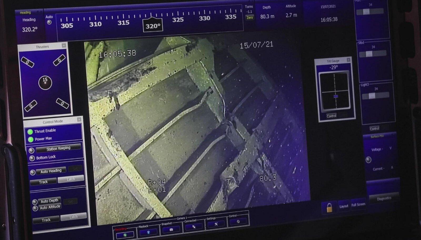 Kaamerapilt näitas ka vöörirampi, mis on kinnitustest lahti tulnud.
