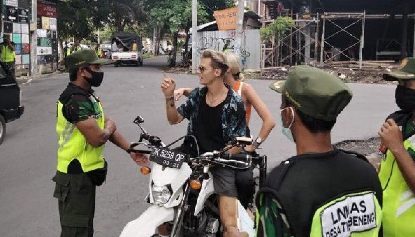 Juhani Särglep politseiga vaidlemas