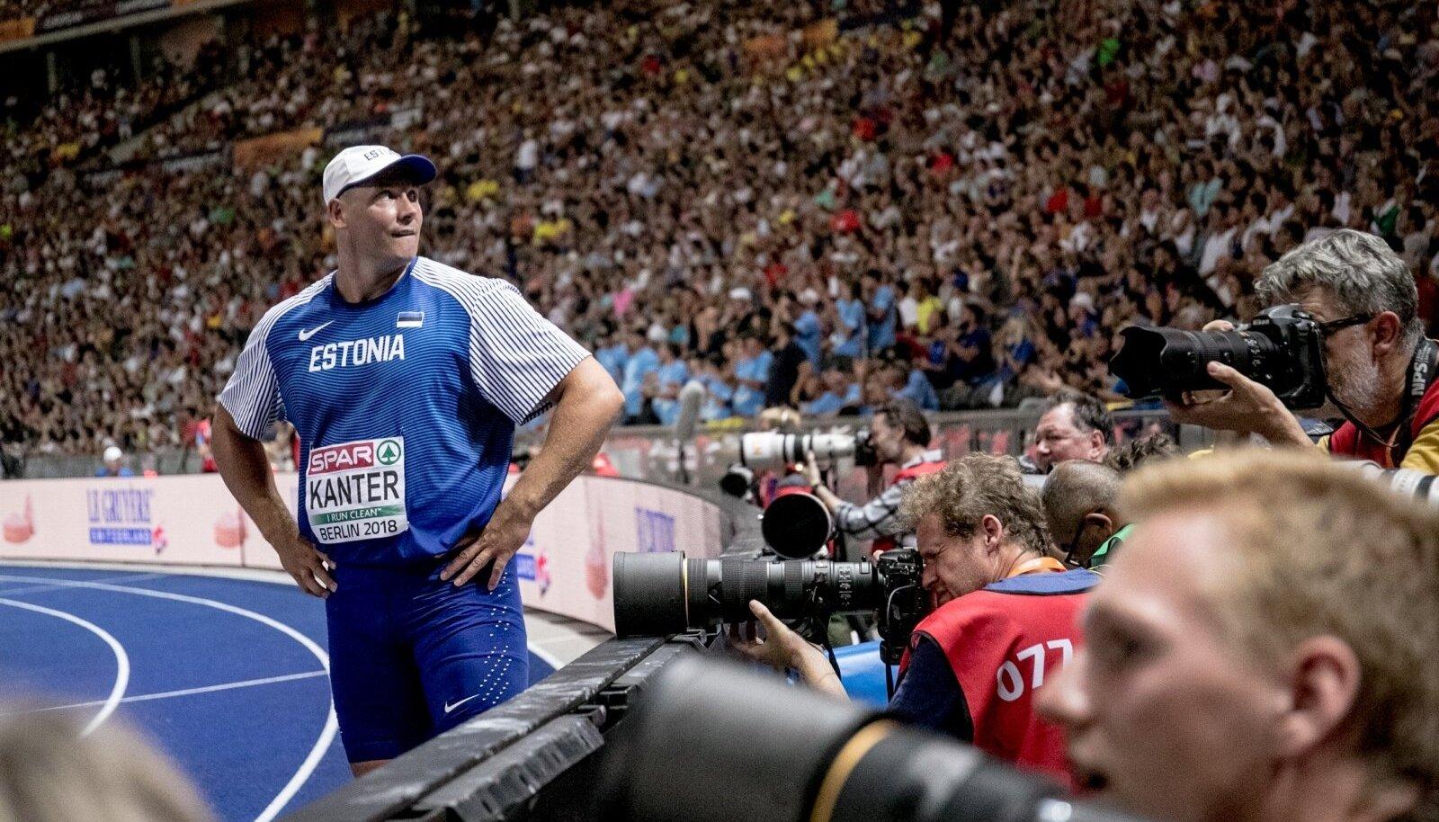 Gerd Kanter nautis täiel rinnal Berliini olümpiastaadioni katlas karjääri viimast tiitlivõistlust.