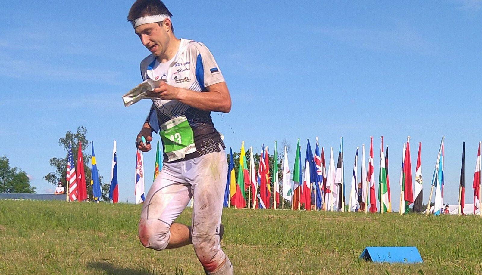 Timo Sild rajal kilomeeter enne finišit.