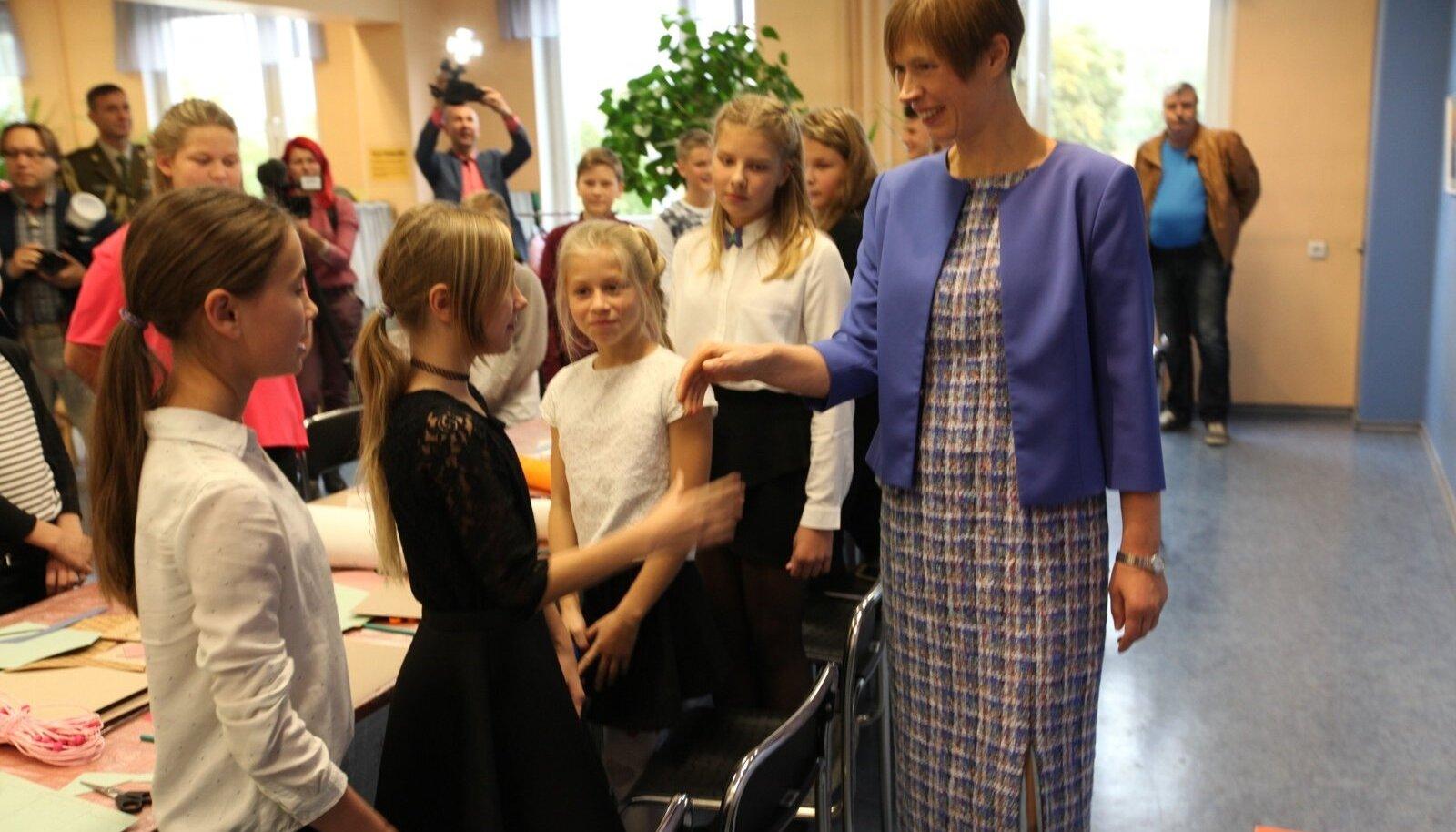 Kersti Kaljulaid Võrus sügisel 2017.