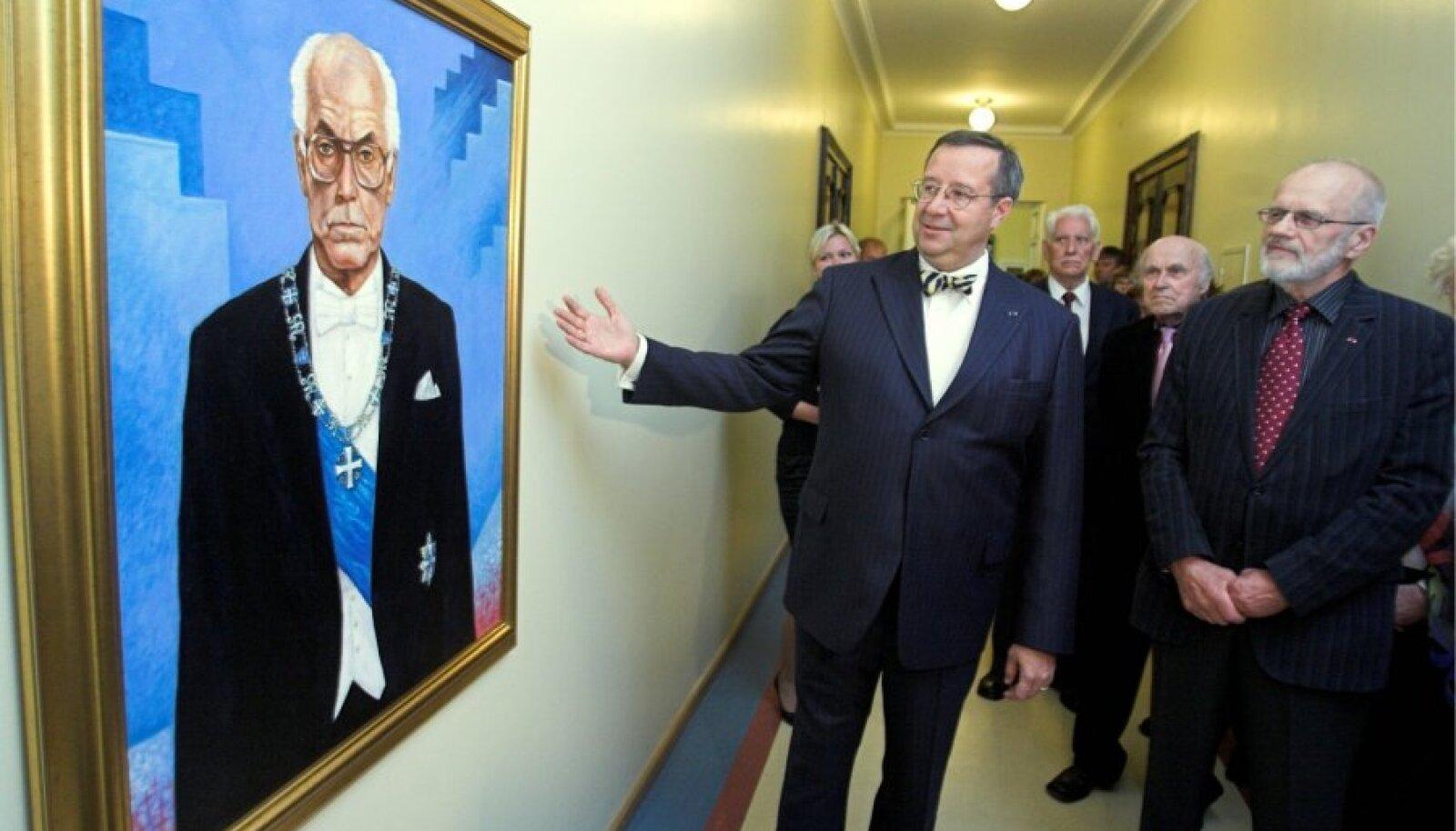 Toomas Hendrik Ilves Lennart Meri portree avamisel