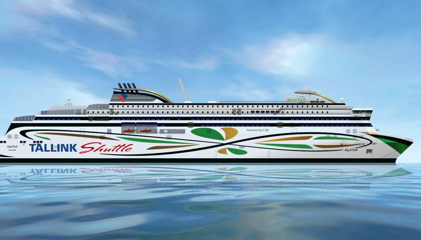 Tallinki uus Helsingi liini laev hakkab kandma nime MyStar