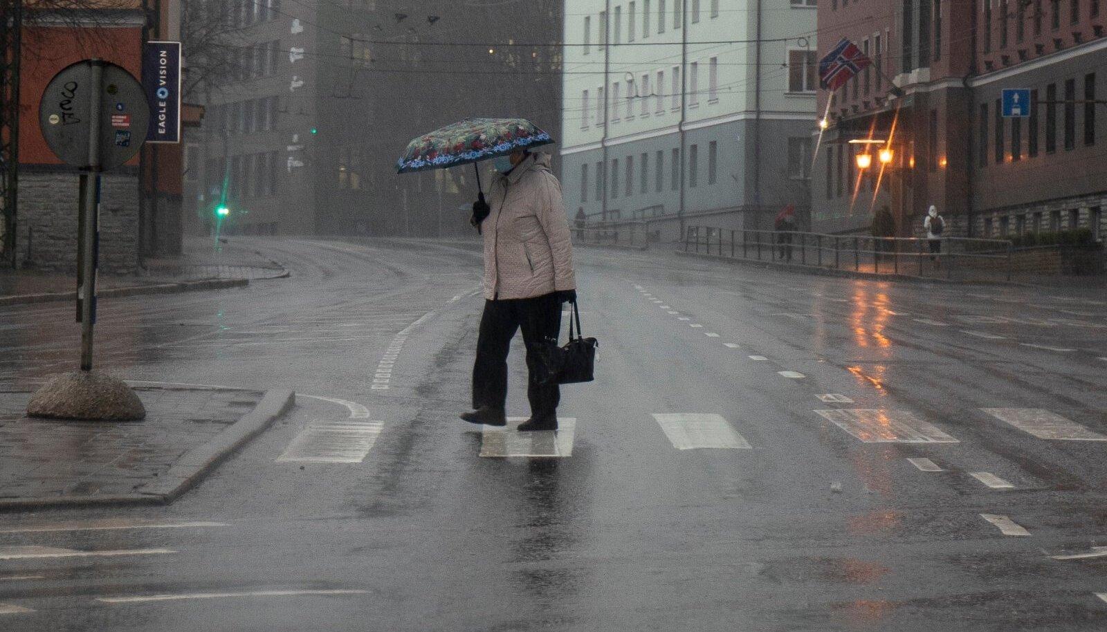 Vihmane keskpäev Tallinnas.