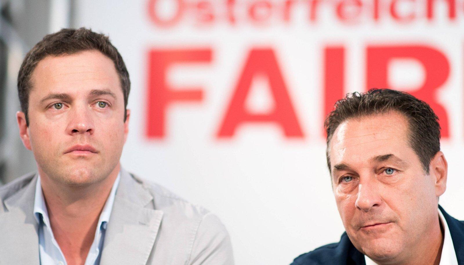 Johann Gudenus ja Heinz-Christian Strache