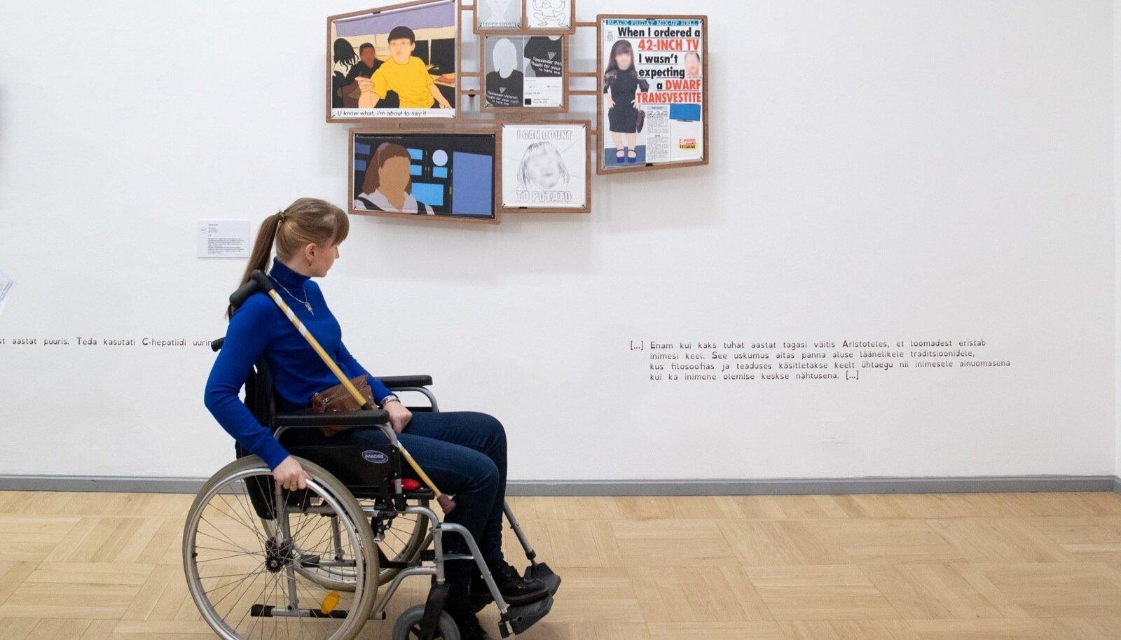 """Näitus """"Sõna mõjutus, puue, suhtlus, katkestus"""""""