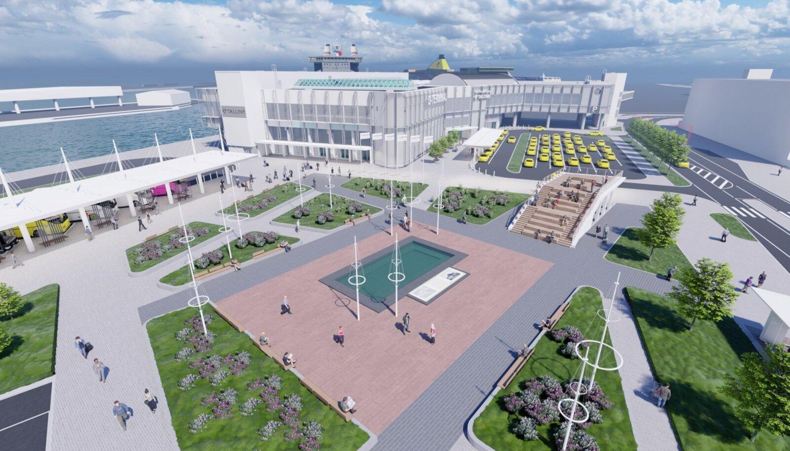 Tallinna Sadama D-terminali esine, eskiis