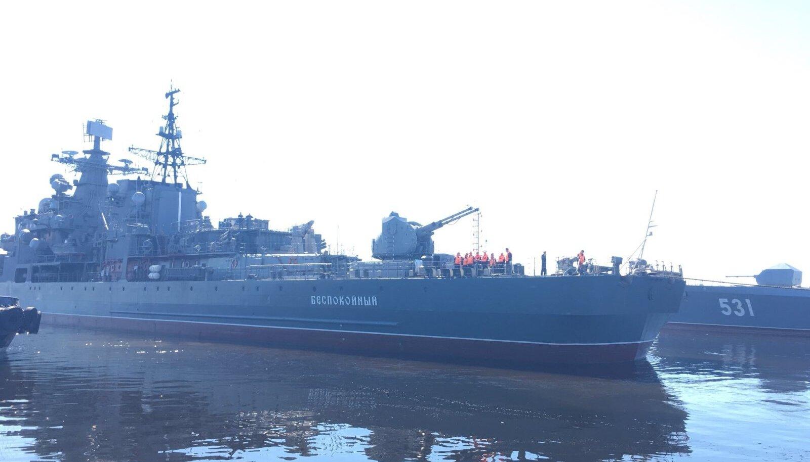 """Vene miinilaev """"Bespokoinõi"""", mis langes omaenda kapteni poolt kuritöö ohvriks."""