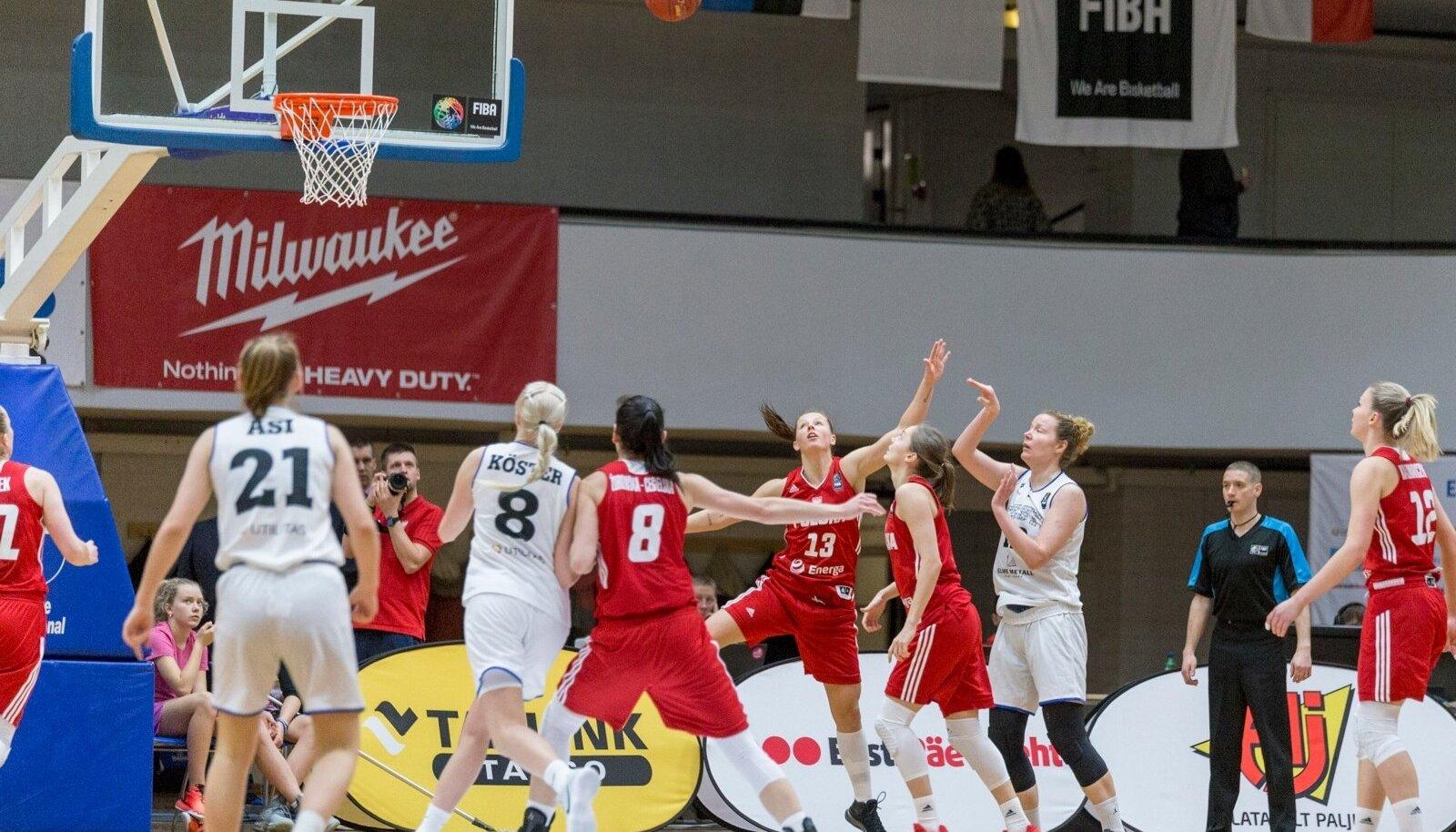 Korvpalli naiste EM-valikmäng Eesti Poola