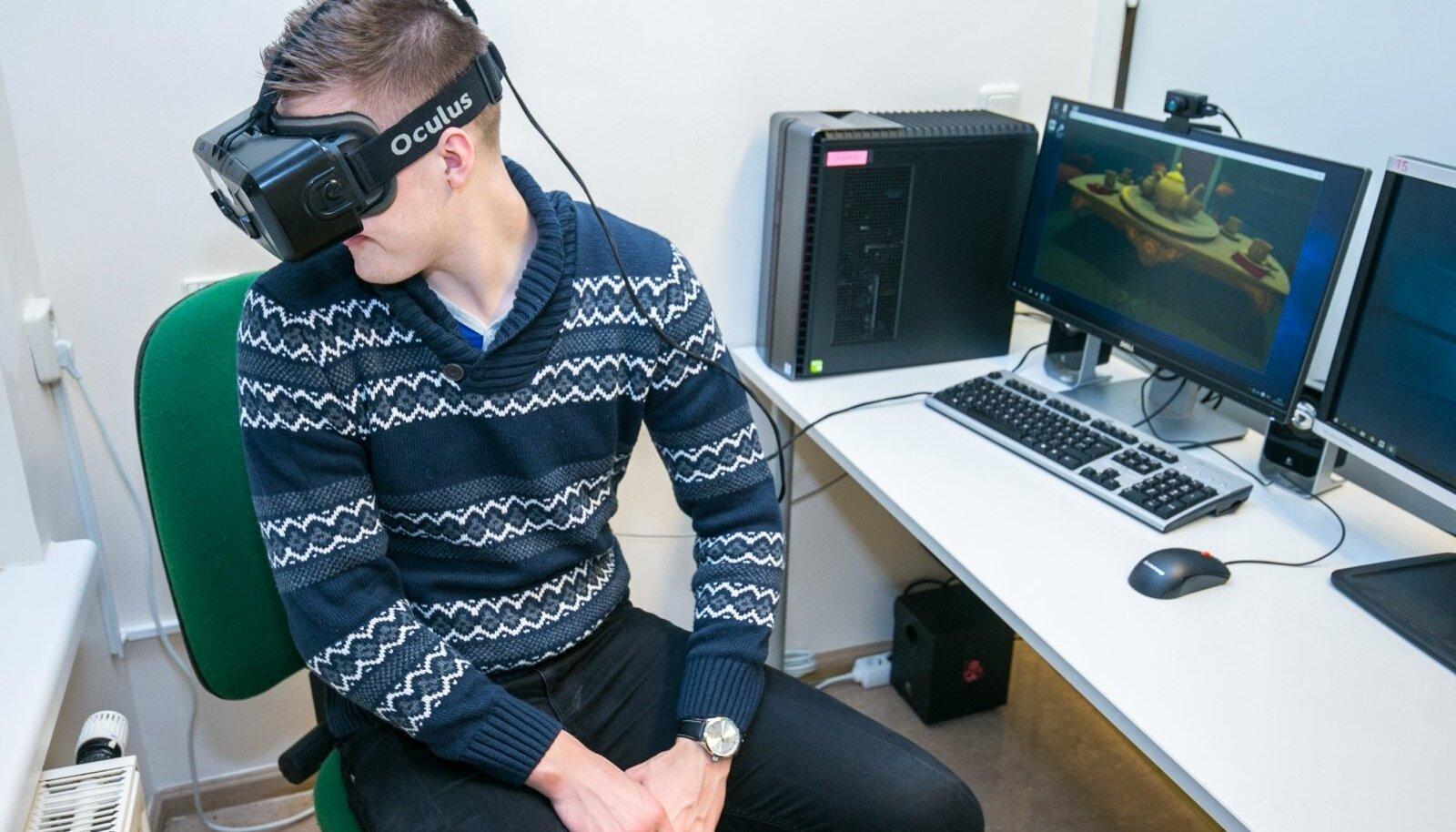 Virtuaalreaalsus-peakomplekt