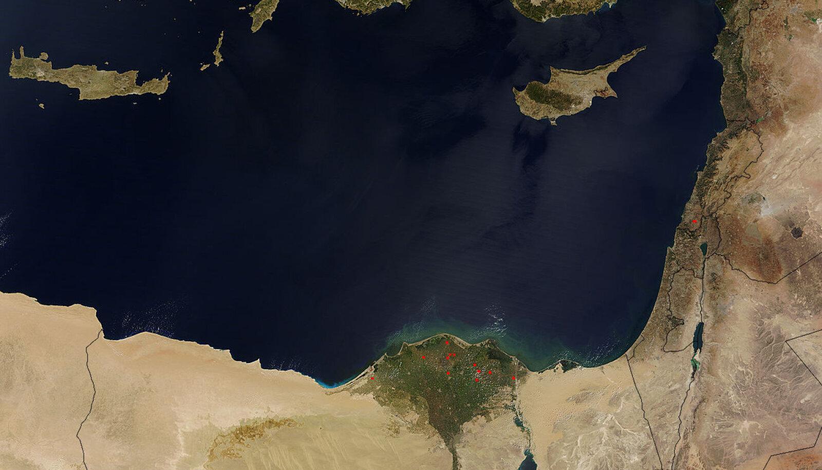 Teravate konfliktide allikaks olev Vahemere idaosa.