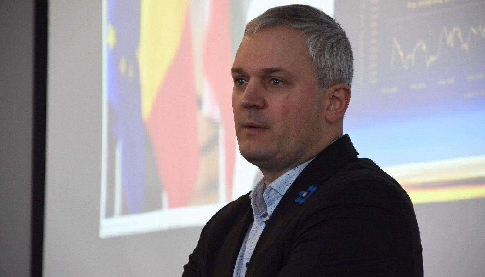 Kalev Kallemets Lääne-Viru Omavalitsuste Liidu (VIROL) üldkoosolekul