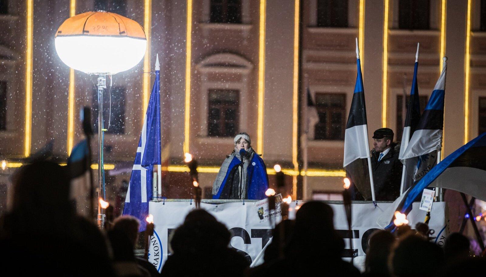 Sinine Äratus Tartu Rahu 101. aastapäeval
