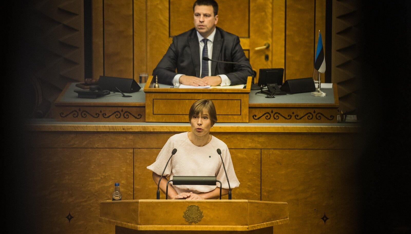 Kersti Kaljulaid pidas avaistungil kõne