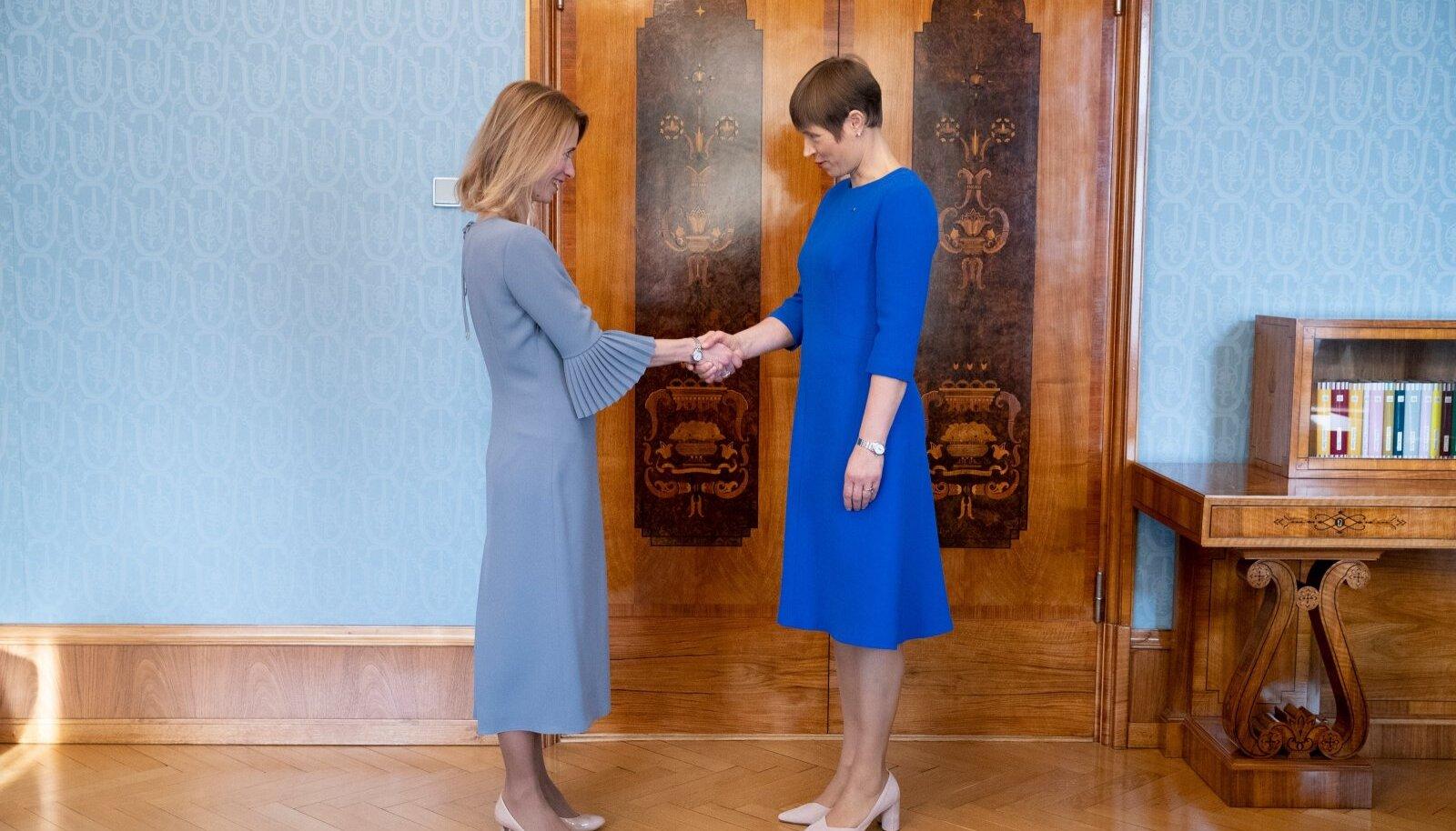 ESIMENE KORD: President Kersti Kaljulaid teeb Kaja Kallasele ettepaneku valitsuse moodustamiseks. Ainult aasta oli siis 2019.