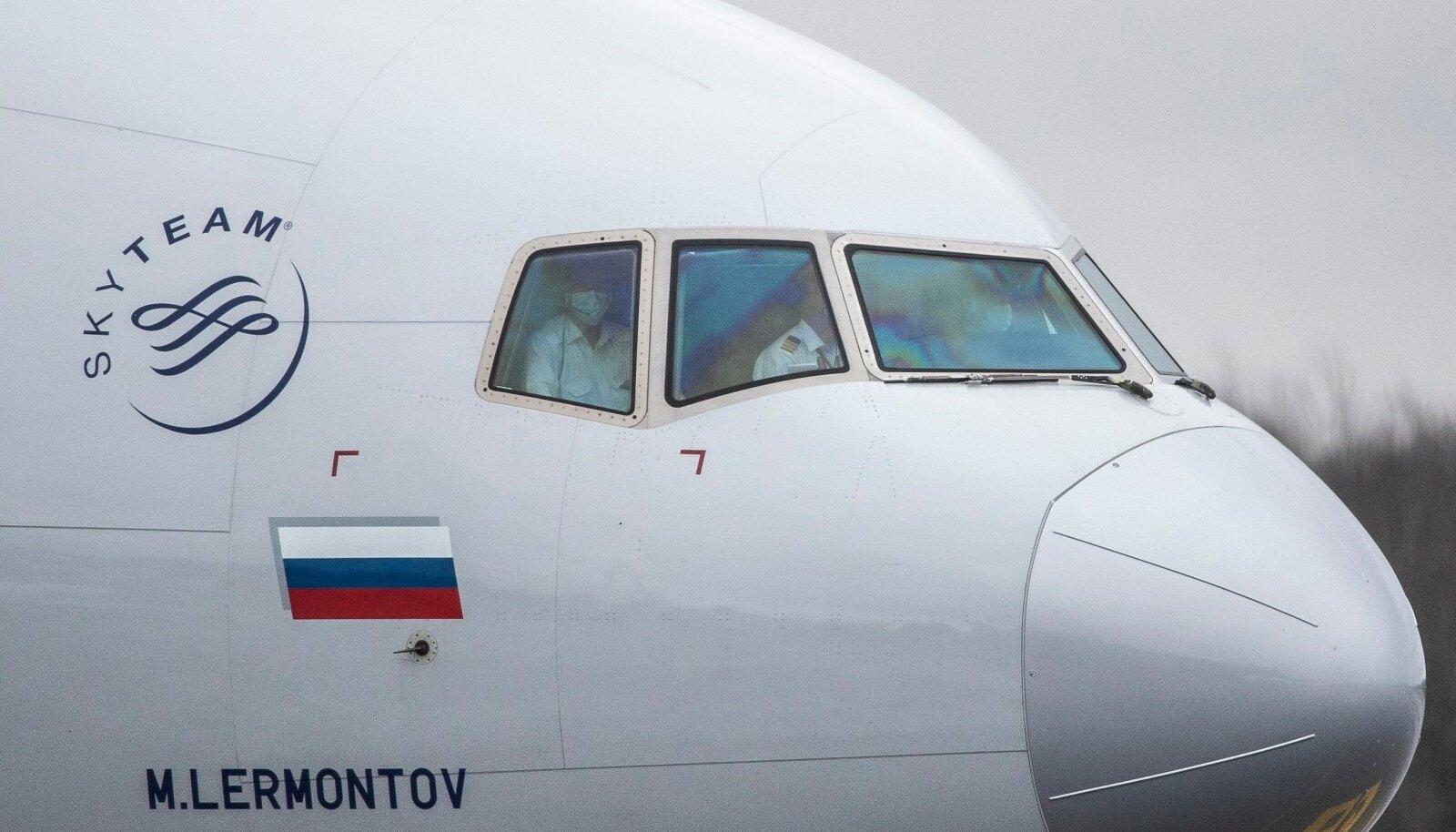 Aeroflot maandus 16.04.2020