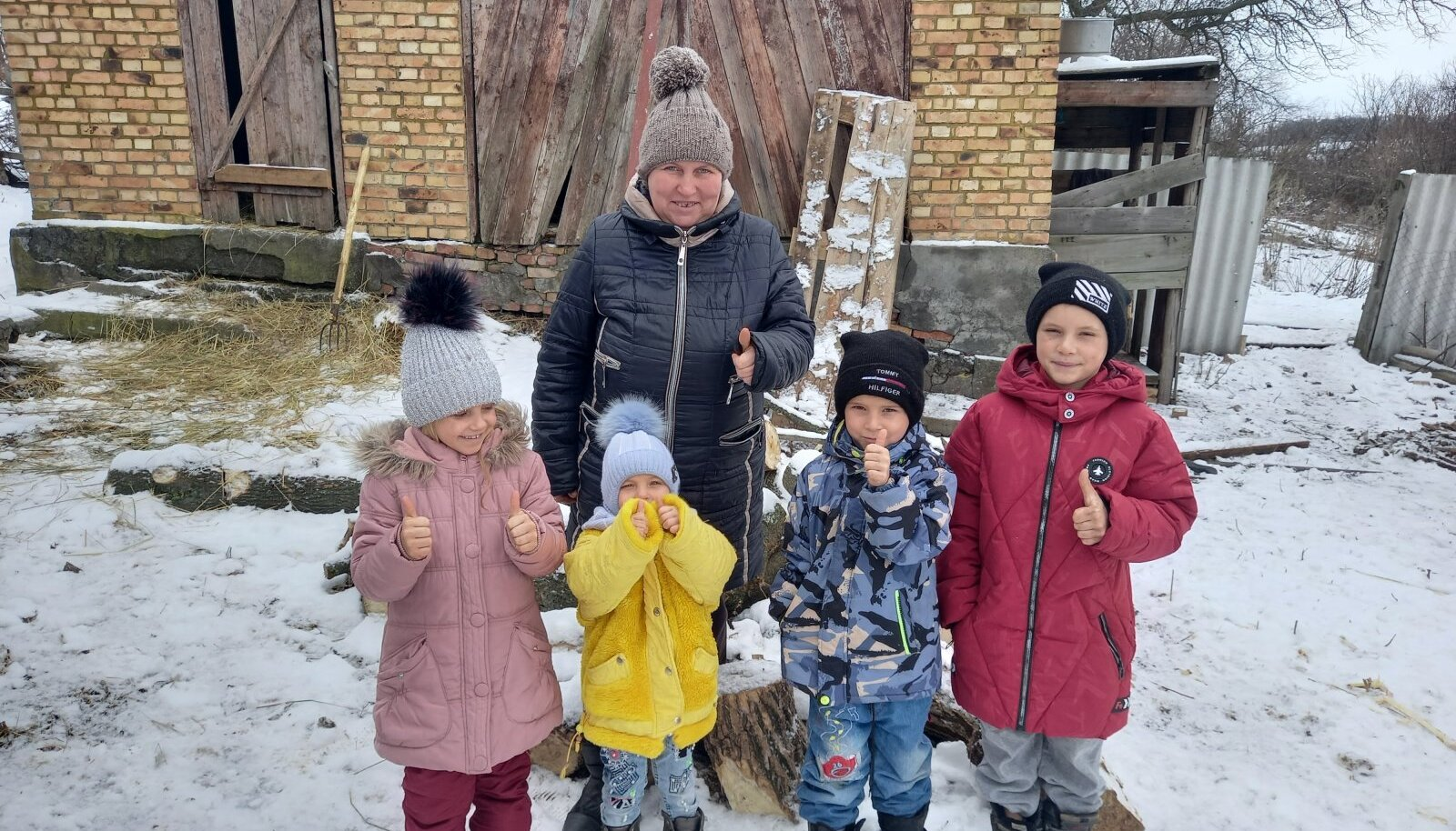 Üks Ida-Ukraina peredest, kes said talve hõlpsamaks üleelamiseks toetust Eesti Pagulasabilt.