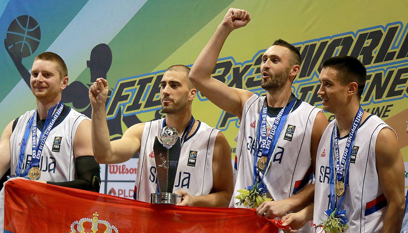 Võidukas Serbia 3x3 koondis