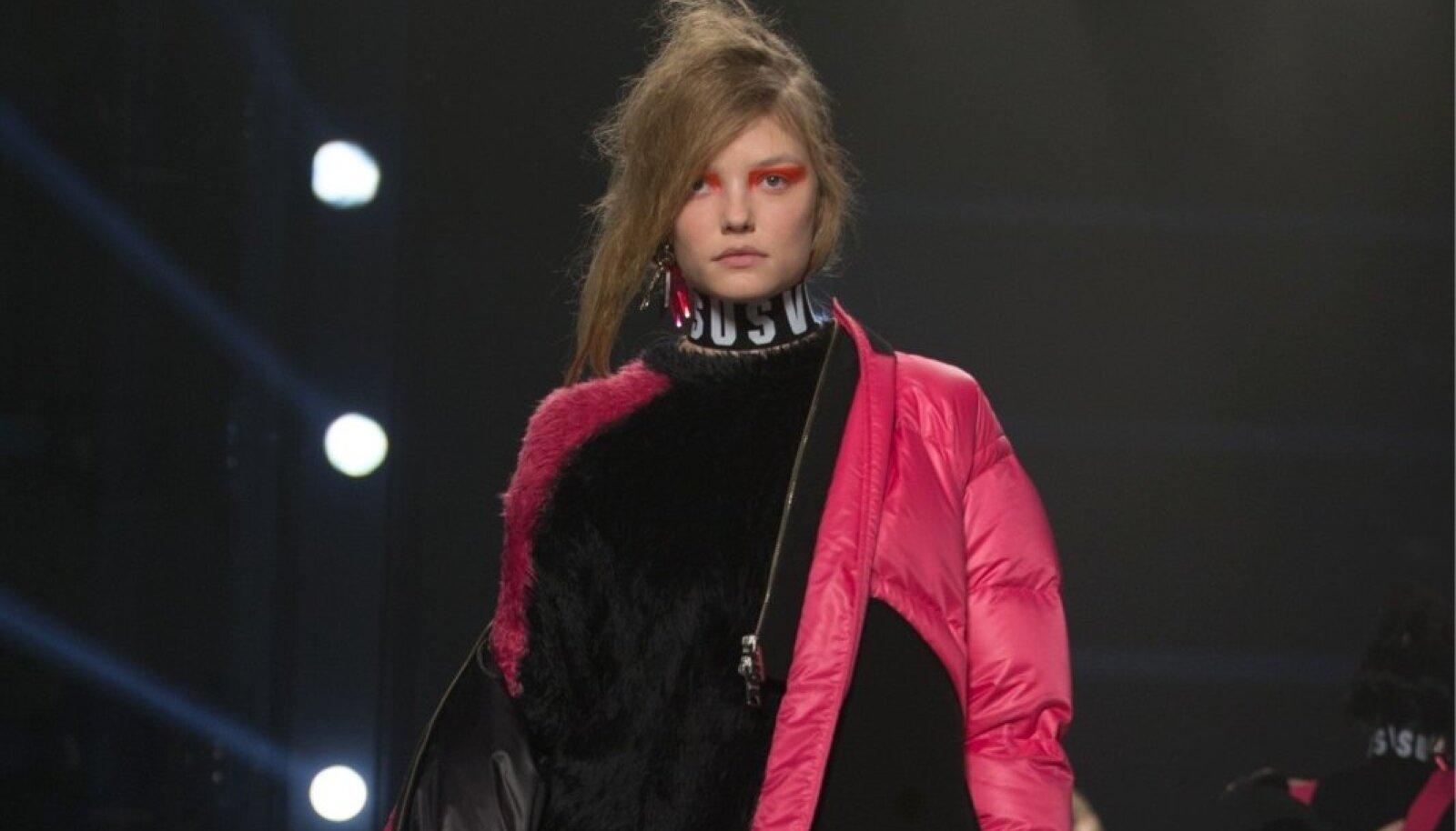 Versace stiilinäide: efektne puhvjope, mis sobib nii stiilseks värvilaiguks sügisesse linnapilti kui ka talvepäeval soojemate riiete juurde.